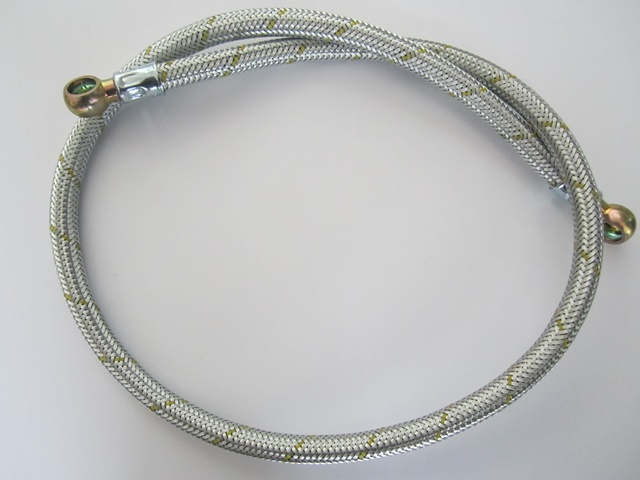 FUEL HOSE new STAINLESS Braided fuel line