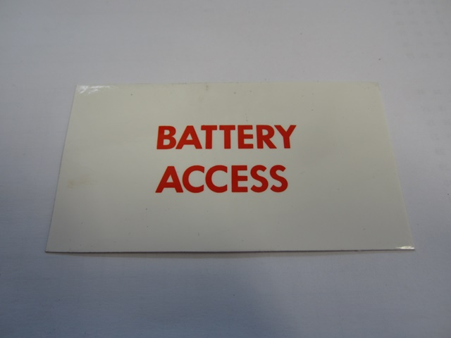 LABEL: BATTERY ACCESS