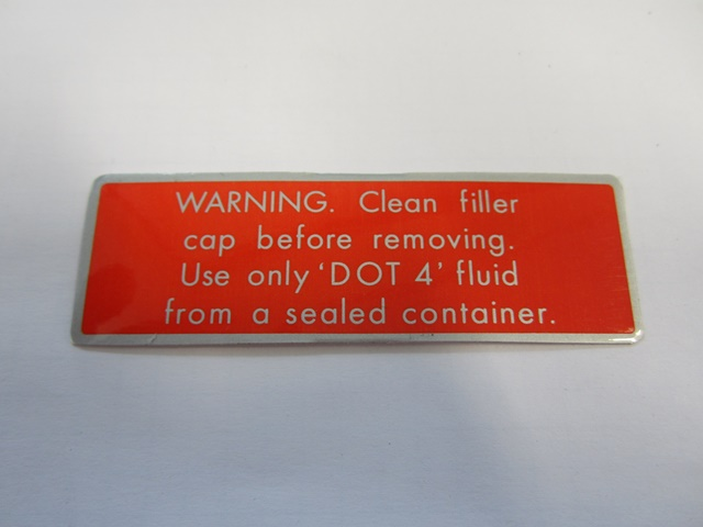 LABEL: BRAKE FLUID