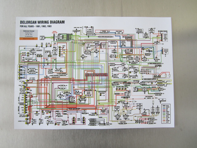 full colour wiring diagram (a3), delorean europe Wiring-Diagram Legend Delorean Wiring Diagram #3